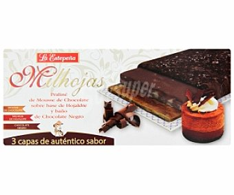 LA ESTEPEÑA Milhojas de Mousse de chocolate 200 Gramos