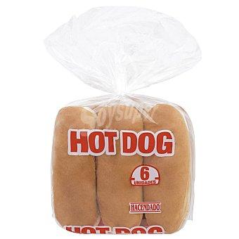 Hacendado Pan perrito (hot dog) Paquete 6 u