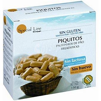 Special Line Piquitos de pan sin gluten sin huevo y sin lactosa Envase 150 g
