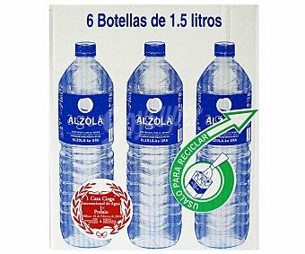 Alzola Agua Mineral Pack 6 Botellas de 1,5 Litros