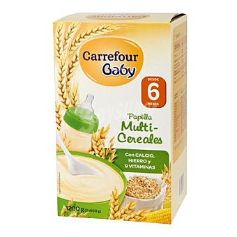 Carrefour Baby Papilla multicereales Pack 2x600 g