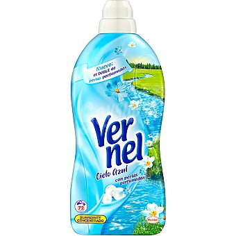 Vernel suavizante concentrado Cielo Azul con perlas perfumadas botella 72 dosis