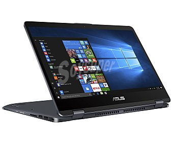 "Asus Portátil 35,56 cm (14"") táctil giratorio vivobook Flip TP410UA-EC287T, Intel Core i3-7100, 4GB Ram, 500GB, Intel HD Graphics 620, Windows 10"