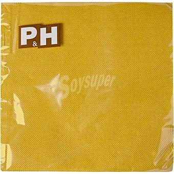 P & H Servilletas Oro 2 capas 33X33 cm paquete 30 unidades Paquete 30 unidades