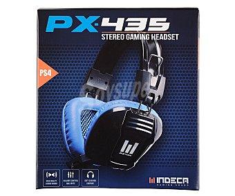 Indeca Cascos con micrófono modelo Px435 para playstation 4, especialmente diseñado para gaming, control de volumen y botón de mute para micrófono 1 unidad