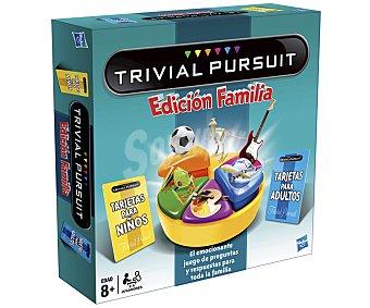 HASBRO Juego de Mesa de Preguntas, Trivial Pursuit Edición Familia, de 2 a 6 Jugadores 1 Unidad