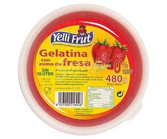 Yelli Frut Gelatina con zumo de fresa y 0% materia grasa 480 g