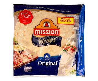 MISSION Tortilla de trigo especiales para hacer wraps 370 gramos
