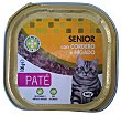 Comida gato senior pate cordero higado Tarrina 100 g Lucy