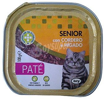 Lucy Comida gato senior pate cordero higado Tarrina 100 g