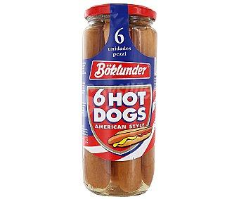 Boklunder Salchichas Hot Dog estilo americano frasco 300 g neto escurrido 6 unidades
