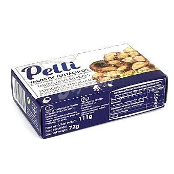 Pelli Tacos de tentáculos al estilo pulpo en aceite vegetal sin lactosa 72 g