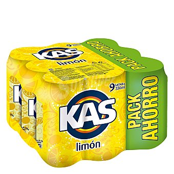 Kas Refresco de limón Pack 9 x 33 cl