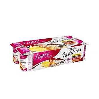 Hacendado Yogur desnatado recetas pasteleras (2 queso c/fresas-2 manzana-2 limon-2 stracciatella) 1 kg ( Pack 8 x 125 g )