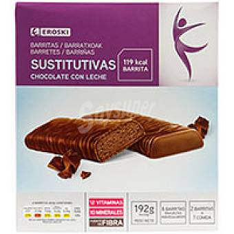 Eroski Barrita de chocolate con leche Caja 192 g