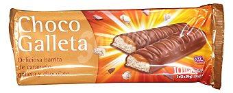 VOYAGER Chocolatina snack caramelo/galleta 5 unidades de 40 g