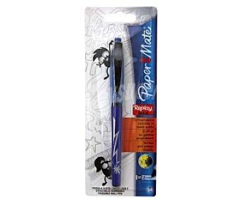 Paper Mate Bolígrafo con punta media con grosor de escritura de 1 milímetro y tinta líquida borrable azul 1 unidad
