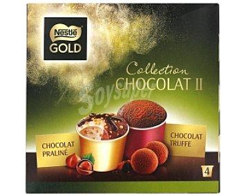 Gold Nestlé Tarrina helado (minicups) praliné&truffe Tarrina Pral&Truf4x100ml
