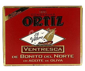 Ortiz El Velero Ventresca de bonito del norte en aceite de oliva lata 80 g neto escurrido Lata 80 g neto escurrido