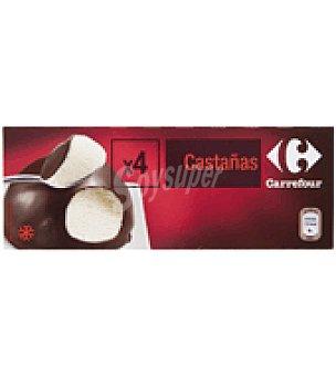 Carrefour Helado de castaña y nata Pack de 4x80 ml