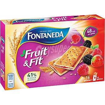 Fontaneda Galletas rellenas de frutos rojos Paquete 197 g