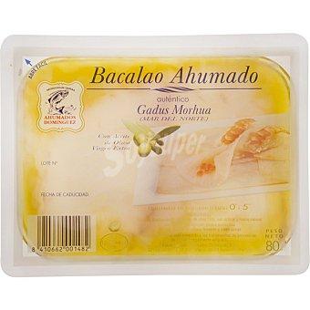 Ahumados Domínguez Bacalao ahumado en aceite de oliva virgen arbequina Envase 80 g