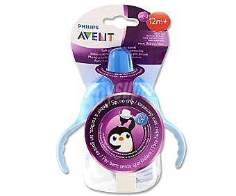 Avent Philips Taza antigoteo de color azul 260 ml