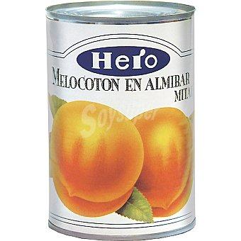 Hero Melocotón en almíbar en mitades Lata 240 g neto escurrido