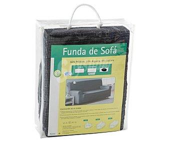 Productos Económicos Alcampo Funda elástica para sofá de 3 plazas, color gris 1 Unidad