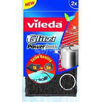 Vileda Estropajo Glitzi Power Inox Pack 2 unid