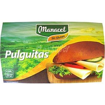MANACEL pan pulguitas sin gluten 4 unidades envase 140 g 4 unidades