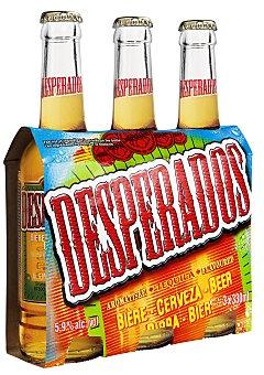 Desperados Cerveza con tequila 3 botellas de 33 cl