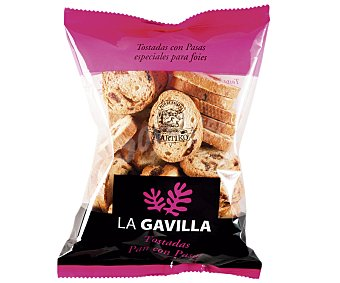 La Gavilla Mini biscotes con pasas especiales para foie Bolsa 100 g