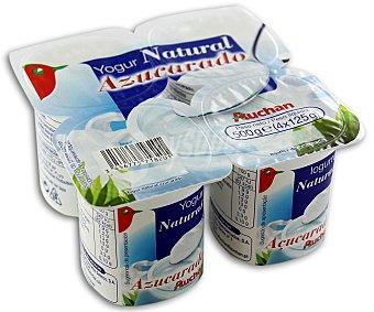 Auchan Yogur Natural Azucarado 4x125g