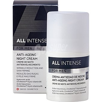 ALL INTENSE FOR MEN Crema antiedad de noche dosificador 50 ml reduce las arrugas y reafirma la piel Dosificador 50 ml