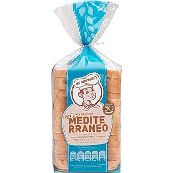 Panadería Los Compadres pan de molde con sabor mediterráneo paquete 500 g