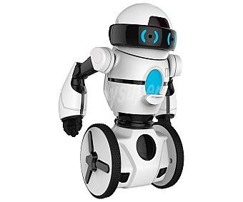 WowWee MIP Robot interactivo blanco, mantiene equilibrio sobre dos ruedas, múltiples juego, transporta objetos en su bandeja, controlado desde App