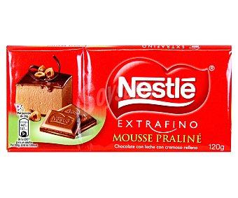 Extrafino Nestlé Chocolate extrafino relleno de mousse de avellana 120 g