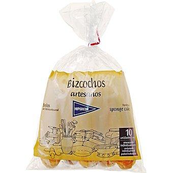 Hipercor Bizcochos artesanos bolsa 150 g 10 unidades envasadas individualmente Bolsa 150 g 10 unidades