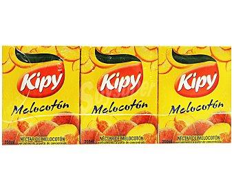 KIPI Néctar de Melocotón Pack 3 Unidades de 200 Mililitros