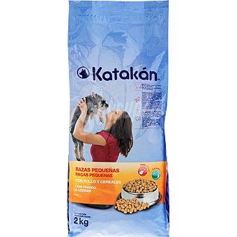 KATAKÁN Especial razas pequeñas con pollo y cereales  Bolsa 2 kg