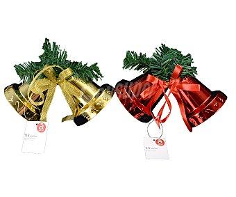 Actuel Colgante de campana con cascabeles, de 9,5 centímetros, de color rojo y dorado, actuel Dear Santa