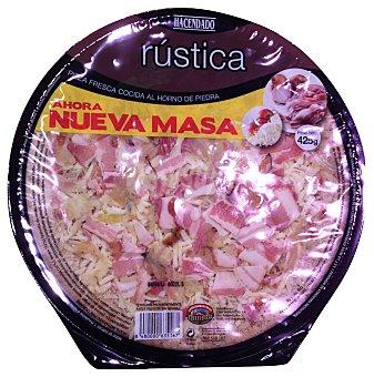HACENDADO Pizza fresca masa rústica, bacón, cebolla y mozarella ( masa más integral y sésamo)  425 g