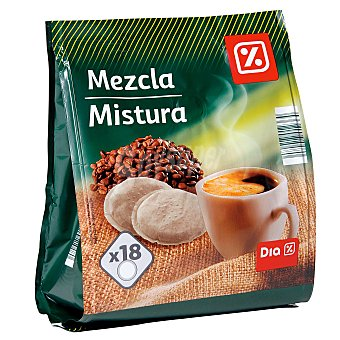 DIA Café monodosis mezcla tipo senseo Paquete 126 gr