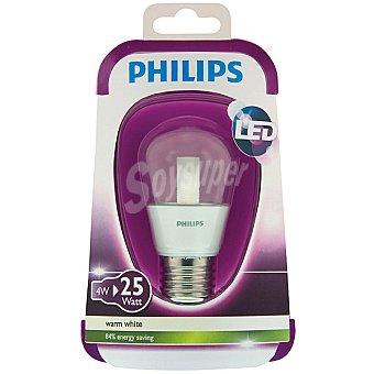 Philips (25 W) lámpara LED blanco cálido casquillo E27 (grueso) Esférica Clara 4 W 1 unidad