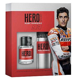 Marc Márquez Estuche Hero Sport colonia 100 ml + desodorante spray 150 ml. 1 ud