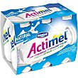 Yogur liquido natural pack 6 unidades 100 ml Actimel Danone