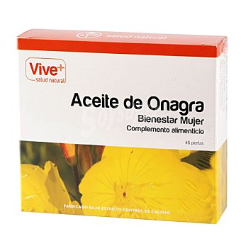 Viveplus Aceite de onagra 500 en perlas 48 ud