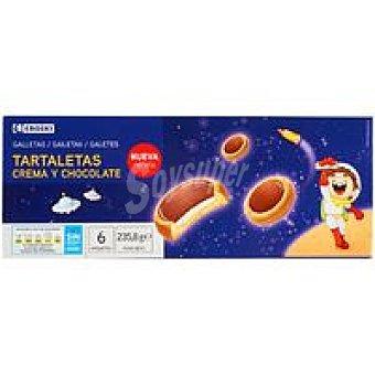 Eroski Tartaleta rellena de crema-chocolate Bandeja 235,80 g