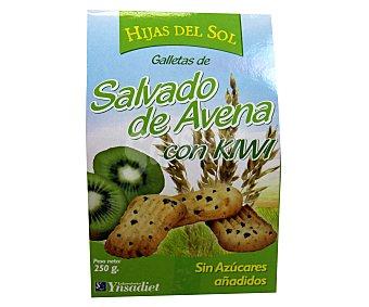 Hijas del Sol Galletas de salvado de avena con kiwi 250 gr